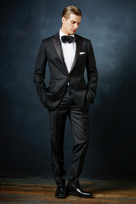 395e176db7498 Men s Black Suit and Bow Tie – Pinpoint Wear